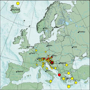 view from Erdbeben Europa on 2021-01-12