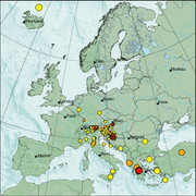 view from Erdbeben Europa on 2021-01-13