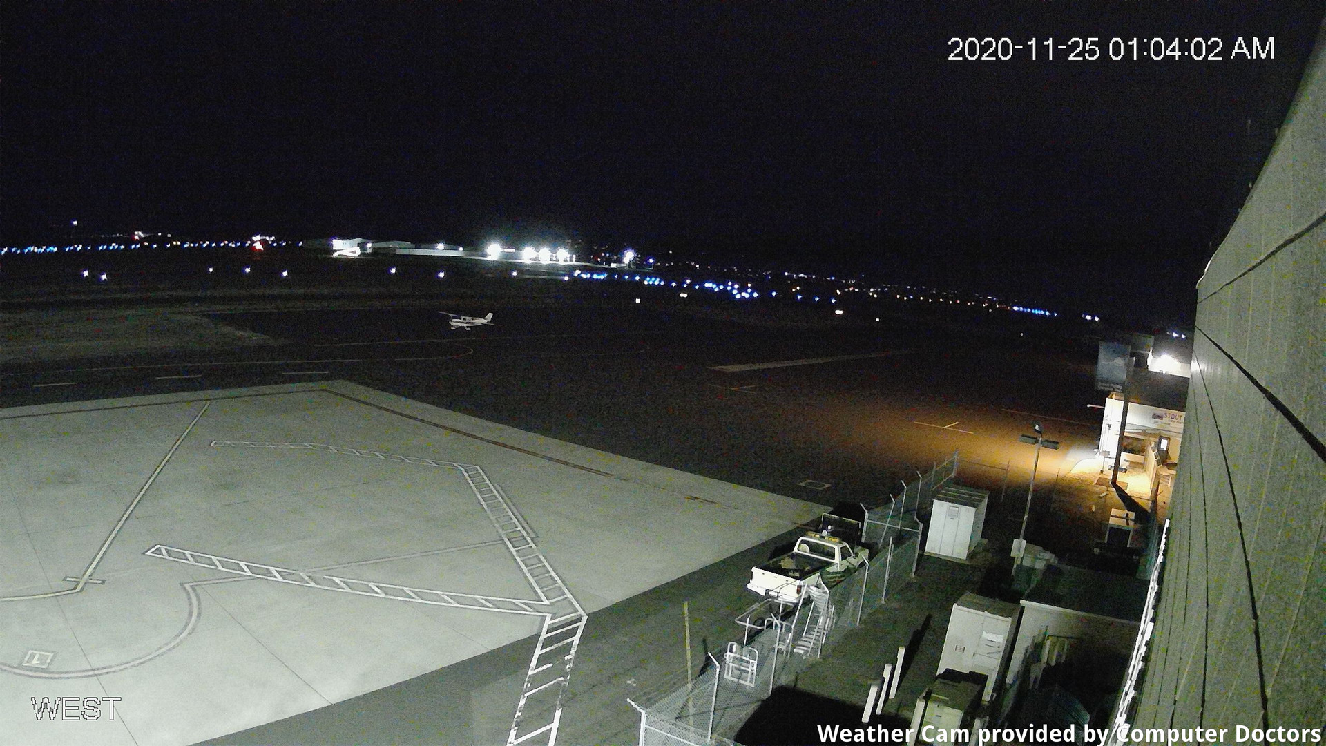 time-lapse frame, West webcam