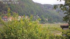 view from Webcam in Bad Schandau Sächsische Schweiz on 2021-06-05