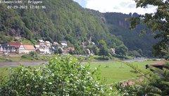 view from Webcam in Bad Schandau Sächsische Schweiz on 2021-07-29