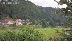 view from Webcam in Bad Schandau Sächsische Schweiz on 2021-08-02