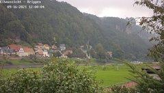 view from Webcam in Bad Schandau Sächsische Schweiz on 2021-09-16