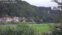 view from Webcam in Bad Schandau Sächsische Schweiz on 2021-09-18