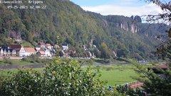 view from Webcam in Bad Schandau Sächsische Schweiz on 2021-09-25