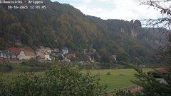 view from Webcam in Bad Schandau Sächsische Schweiz on 2021-10-16