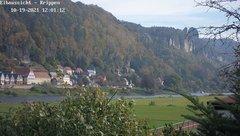 view from Webcam in Bad Schandau Sächsische Schweiz on 2021-10-19