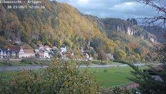 view from Webcam in Bad Schandau Sächsische Schweiz on 2021-10-21