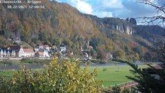 view from Webcam in Bad Schandau Sächsische Schweiz on 2021-10-22