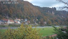 view from Webcam in Bad Schandau Sächsische Schweiz on 2021-10-23
