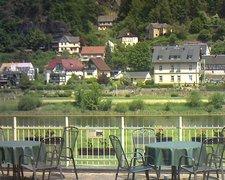 view from Webcam in Bad Schandau, Krippen & Postelwitz on 2021-06-08