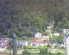view from Webcam in Bad Schandau, Krippen & Postelwitz on 2021-07-16