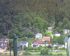 view from Webcam in Bad Schandau, Krippen & Postelwitz on 2021-07-19