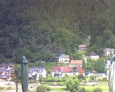 view from Webcam in Bad Schandau, Krippen & Postelwitz on 2021-07-23
