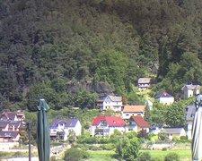 view from Webcam in Bad Schandau, Krippen & Postelwitz on 2021-07-31