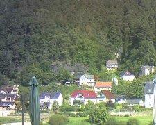 view from Webcam in Bad Schandau, Krippen & Postelwitz on 2021-09-13