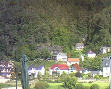 view from Webcam in Bad Schandau, Krippen & Postelwitz on 2021-09-19