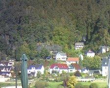 view from Webcam in Bad Schandau, Krippen & Postelwitz on 2021-10-10