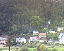 view from Webcam in Bad Schandau, Krippen & Postelwitz on 2021-10-12